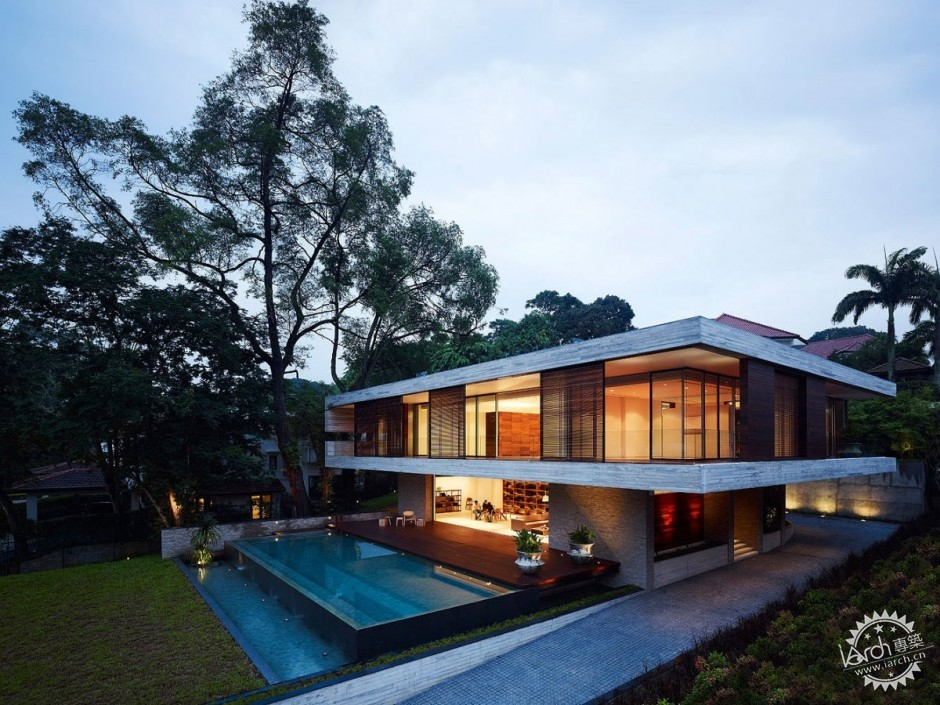 ONG&ONG have designed the JKC1 house in Singapore.第2张图片