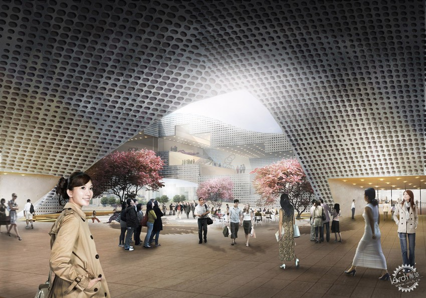 DQZ文化中心,HAO设计  DQZ Cultural Center by HAO / Holm Architecture Office + AI第3张图片