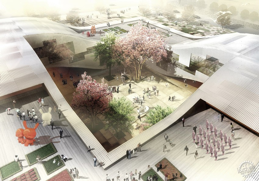 DQZ文化中心,HAO设计  DQZ Cultural Center by HAO / Holm Architecture Office + AI第4张图片