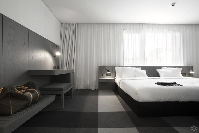 格调 保加利亚黑白灰三色创意酒店室内设计