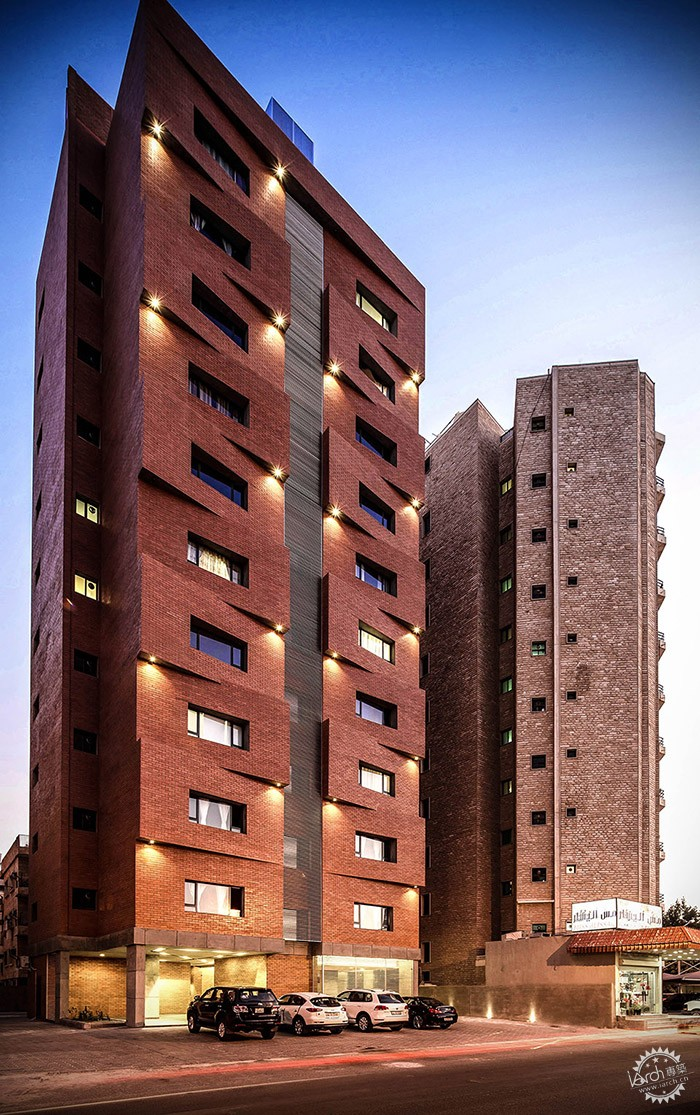 Edges Apartments, Salmiya, Kuwait / Studio Toggle第9张图片