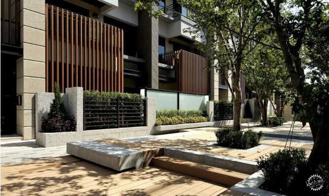 园林景观木质铺装设计图片