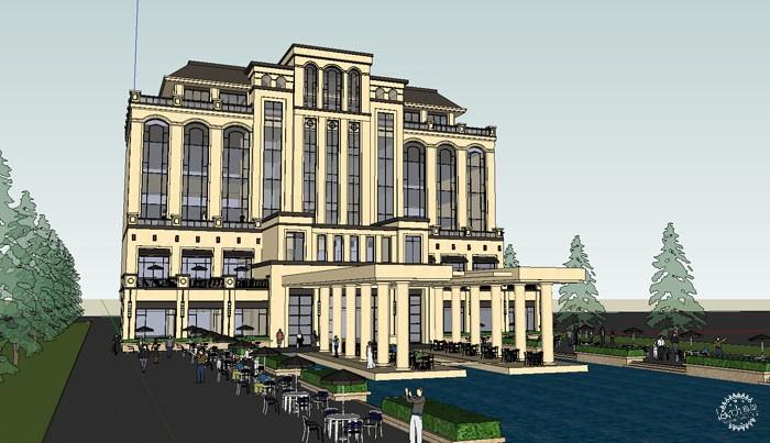 50多个sketchup建筑模型设计会所售楼处