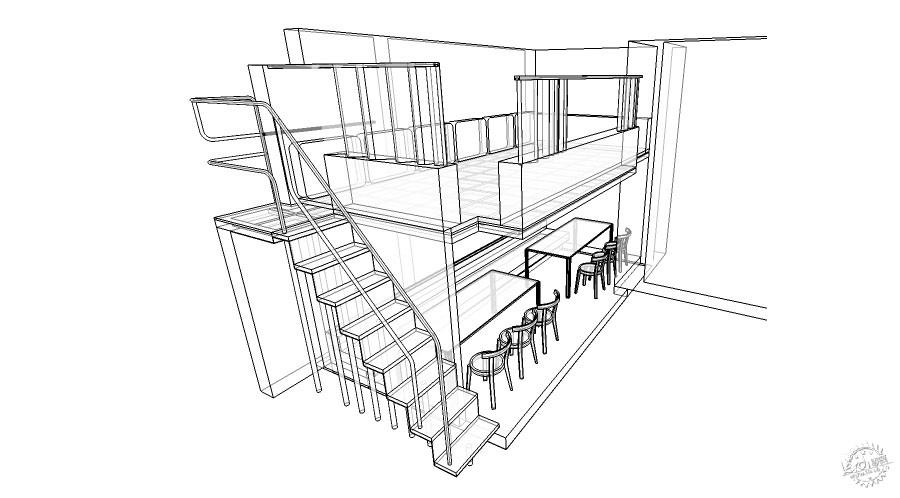 伴山咖啡室内设计-娱乐休闲空间|咖啡厅-专筑网