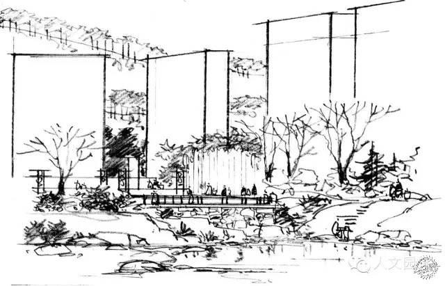 前辈徐东耀园林景观手绘