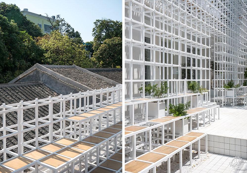 住在白色格栅里的建筑,有种浓郁的文艺气息|深圳艺栈建筑改造第8张图片