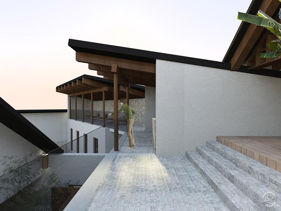 民宿建筑设计手绘效果图