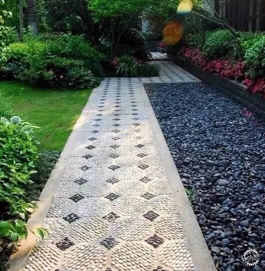庭院汀步石-庭院景观设计|汀步-专筑网
