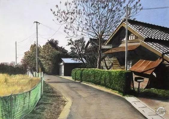 这竟然是彩铅画的街景-手绘art|艺术-专筑网