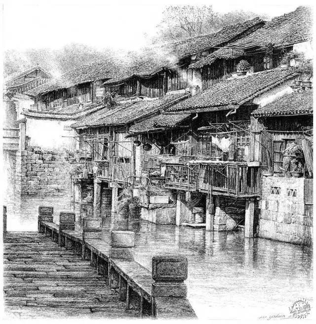 中国钢笔画顶尖高手徐亚华作品第3张图片