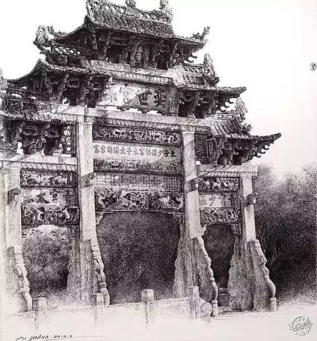 中国钢笔画顶尖高手徐亚华作品第4张图片