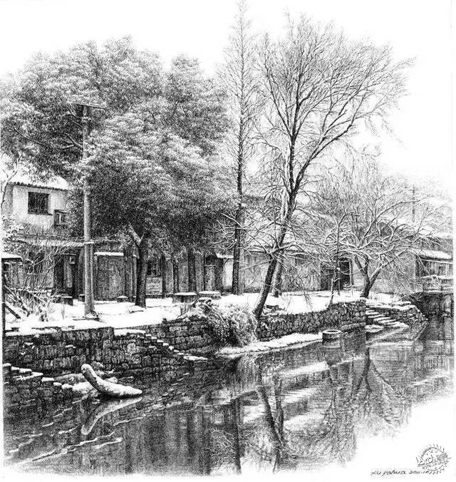 中国钢笔画顶尖高手徐亚华作品第8张图片