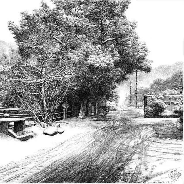 中国钢笔画顶尖高手徐亚华作品第29张图片