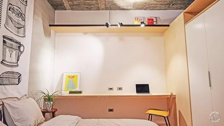 台湾50㎡复古风soho族单身公寓-loft中国|室内-专筑网