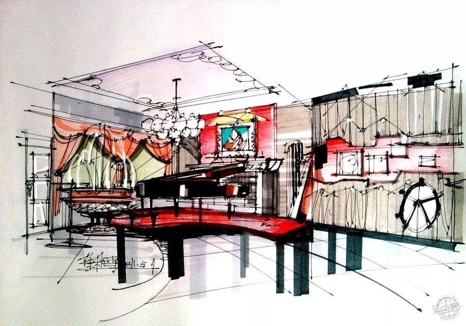 本文转载自手绘家   餐厅手绘设计效果图大全   宴会厅,中餐厅,西