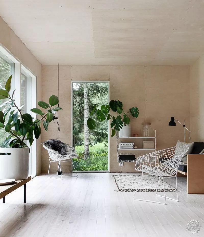 这种方式的设计   一直是家装设计中的流行用法   将木板垂铺设在
