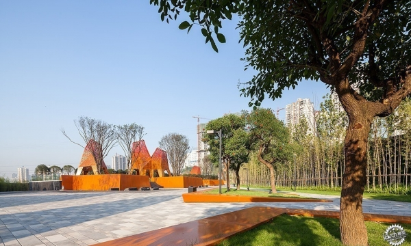 Fengming Mountain Park / Martha Schwartz Partners