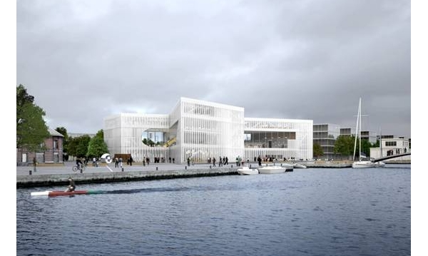 OMA在卡昂对BMVR图书馆破土动工/OMA Breaks Ground on BMVR Library in Caen