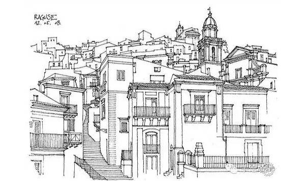 建筑手绘.