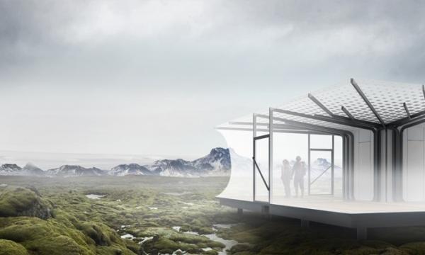 冰岛风景区登山小屋模块化设计/