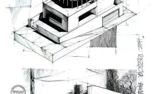 手绘 体块 空间