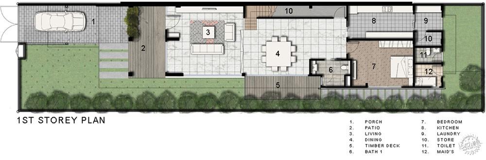 围屏住宅/ ADX Architects第12张图片