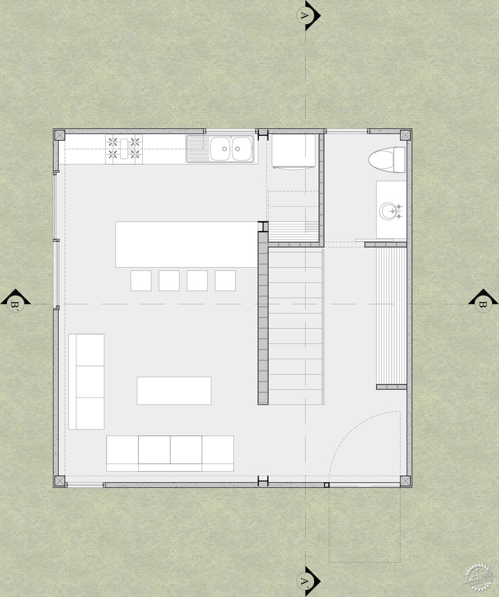 方块住宅/ Diez+Muller Arquitectos第5张图片