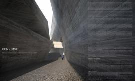 Con-Cave: Bamiyan Culture Center / reMIX studio