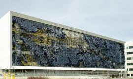 Parking Structure Art Facade--Eskenazi Hospital